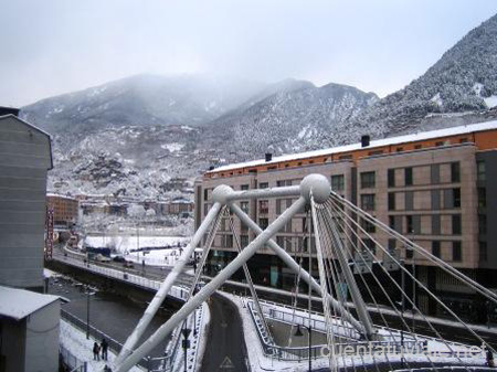 Vistas desde el Hotel Magic, Andorra la Vella.